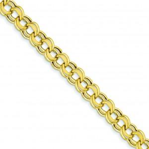 Lite Double Link Charm Bracelet in 14k Yellow Gold