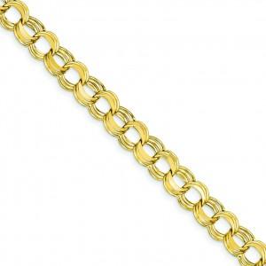 Lite Triple Link Charm Bracelet in 14k Yellow Gold