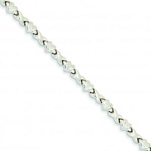 Heart X Bracelet in 14k Yellow Gold