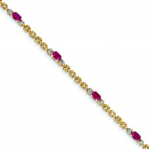 Completed Fancy Diamond Ruby in 14k Yellow Gold