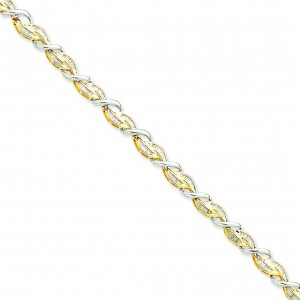 Diamond Bracelet Two Tone Gold in 14k Two-tone Gold