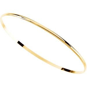 Half Round Bangle Bracelet in 14k Yellow Gold