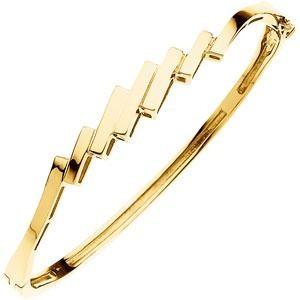 Hinged Bangle Bracelet in 14k White Gold