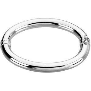 Hinged Bangle in Sterling Silver