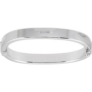 Hinged Bangle Bracelet in Sterling Silver