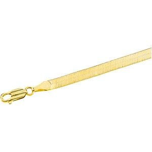 Herringbone Chain Bracelet in 14k Yellow Gold