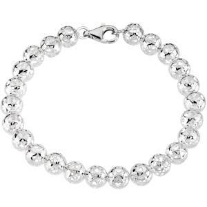 Hollow Bead Bracelet in Sterling Silver