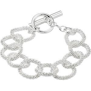 Mesh Link Bracelet in Sterling Silver