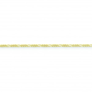 10k Yellow Gold 8 inch 2.20 mm Figaro Link Chain Bracelet