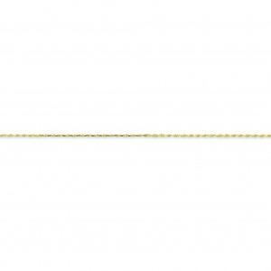 10k Yellow Gold 8 inch 1.20 mm Handmade Rope Chain Bracelet