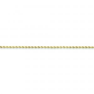 10k Yellow Gold 8 inch 1.75 mm Handmade Rope Chain Bracelet