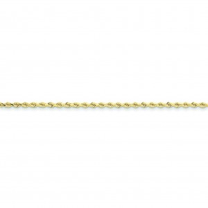 10k Yellow Gold 8 inch 2.25 mm  Rope Chain Bracelet