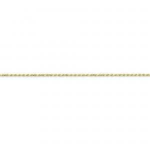 10k Yellow Gold 8 inch 2.00 mm Machine Made Rope Chain Bracelet