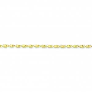 10k Yellow Gold 8 inch 3.00 mm Marquise Fancy Chain Bracelet