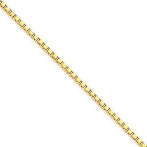 14k Yellow Gold 7 inch 1.90 mm  Box Chain Bracelet