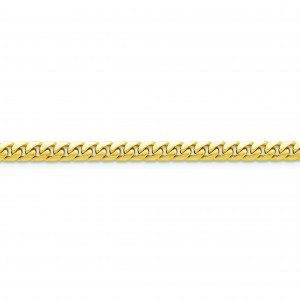 14k Yellow Gold 7 inch 5.00 mm Domed Curb Chain Bracelet