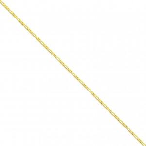 14k Yellow Gold 7 inch 2.25 mm Flat Figaro Chain Bracelet