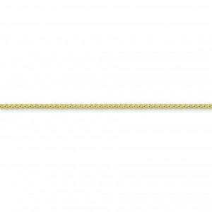 14k Yellow Gold 16 inch 1.80 mm Flat Wheat Choker Necklace