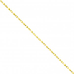 14k Yellow Gold 8 inch 2.50 mm Marquise Fancy Chain Bracelet