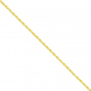 14k Yellow Gold 7 inch 3.50 mm Marquise Fancy Chain Bracelet