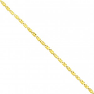 14k Yellow Gold 7 inch 4.00 mm Marquise Fancy Chain Bracelet
