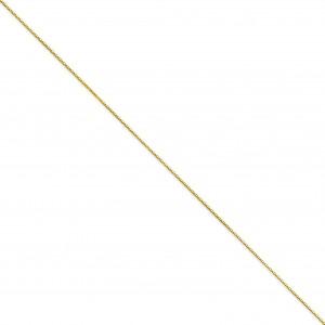 14k Yellow Gold 16 inch 0.50 mm  Box Choker Necklace