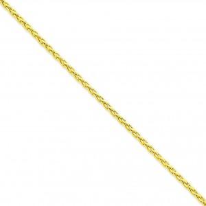 14k Yellow Gold 16 inch 3.00 mm Parisian Wheat Choker Necklace
