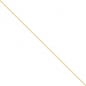 14k Yellow Gold 9 inch 1.20 mm Polished Bead Ankle Bracelet