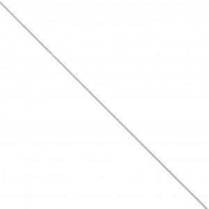 14k White Gold 6 inch 1.00 mm Parisian Wheat Chain Bracelet