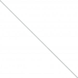 14k White Gold 6 inch 1.20 mm Parisian Wheat Chain Bracelet