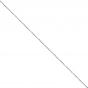 14k White Gold 6 inch 1.50 mm Parisian Wheat Chain Bracelet