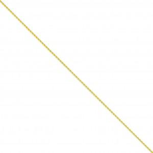 14k Yellow Gold 6 inch 1.50 mm Parisian Wheat Chain Bracelet