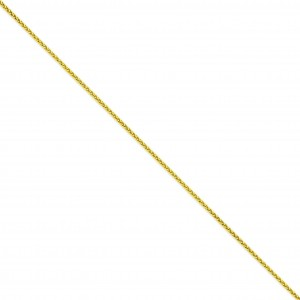 14k Yellow Gold 7 inch 1.90 mm Parisian Wheat Chain Bracelet