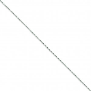 14k White Gold 16 inch 1.25 mm Round Parisian Wheat Choker Necklace