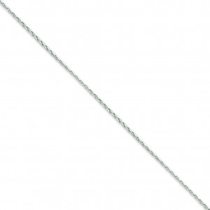 14k White Gold 16 inch 1.75 mm Round Parisian Wheat Choker Necklace