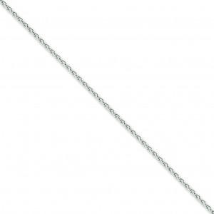 14k White Gold 7 inch 2.25 mm Parisian Wheat Chain Bracelet
