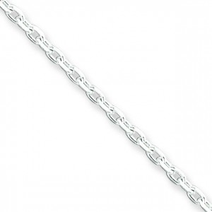 Sterling Silver 7 inch 2.00 mm Cable Chain Bracelet
