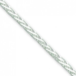 Sterling Silver 16 inch 2.50 mm Diamond-cut Spiga Choker Necklace