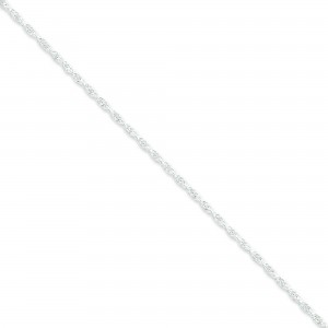 Sterling Silver 16 inch 1.90 mm Loose Rope Choker Necklace
