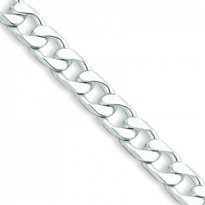 Sterling Silver 7 inch 6.20 mm  Curb Chain Bracelet