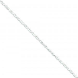 Sterling Silver 16 inch 2.50 mm Loose Rope Choker Necklace