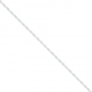 Sterling Silver 16 inch 2.00 mm Loose Rope Choker Necklace