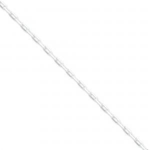 Sterling Silver 8 inch 2.75 mm Elongated Open Link Chain Bracelet