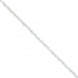 Sterling Silver 16 inch 0.50 mm Fancy Link Choker Necklace