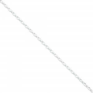 Sterling Silver 16 inch 2.50 mm Rolo Choker Necklace