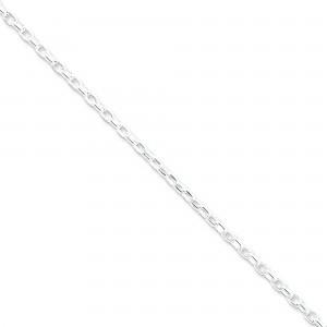 Sterling Silver 7 inch 3.20 mm Rolo Chain Bracelet