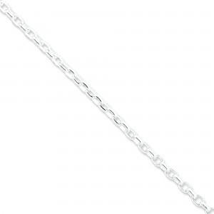 Sterling Silver 7 inch 4.40 mm Rolo Chain Bracelet