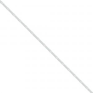 Sterling Silver 7 inch 1.75 mm  Figaro Chain Bracelet