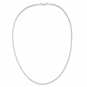 Sterling Silver 7 inch 2.00 mm Diamond-cut Round Franco Chain Bracelet