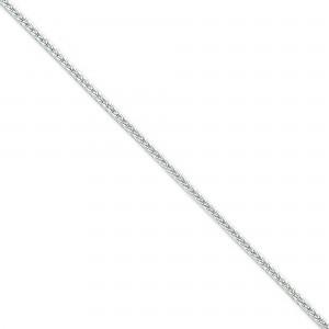 Sterling Silver 7 inch 2.50 mm Diamond-cut Round Franco Chain Bracelet